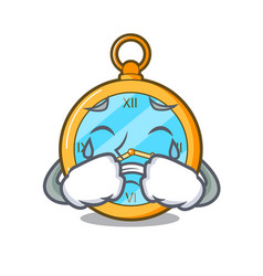 Crying antique watch isolated on a character vector