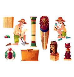 egyptian set - characters symbols of vector image