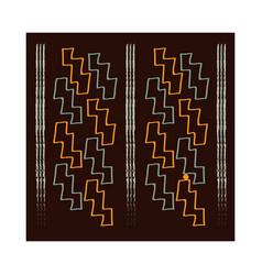 ethnic handmade ornament boho mosaic layout vector image