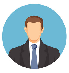 faceless businessman avatar man in suit with blue vector image