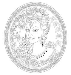 Fantasy portrait beautiful fairy tale queen vector