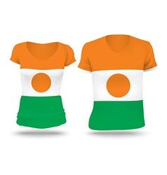 Flag shirt design of Niger vector