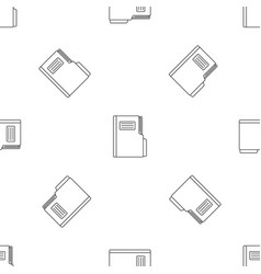 folder pattern seamless vector image
