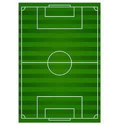 Football field with green lawn vector