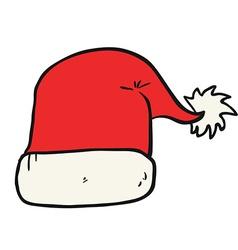 freehand drawn cartoon christmas hat vector image