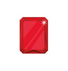 Gemstone ruby jewel vector