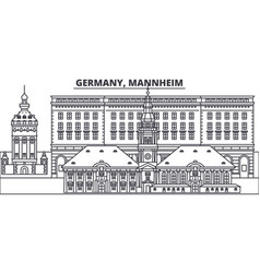 Germany mannheim line skyline vector