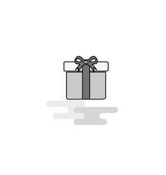 giftbox web icon flat line filled gray icon vector image
