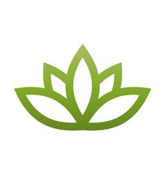 Green lotus symbol spa and wellness theme design vector