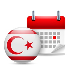 Icon of National Day in Northern Cyprus vector