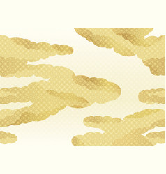 Japanese vintage seamless clouds pattern vector