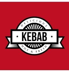 Kebab stamp vintage style vector