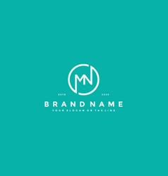 Letter mn logo design vector