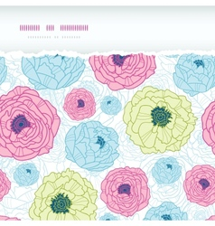Lovely flowers horizontal torn seamless pattern vector image vector image