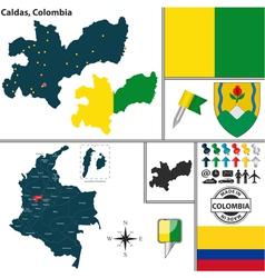 Map of Caldas vector image