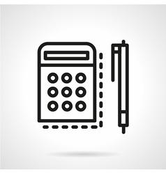 Mathematics icon line style vector image