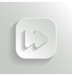 Media player icon - white app button vector image