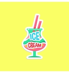 Milkshake Bright Color Summer Inspired Sticker vector image