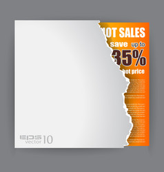 Modern advertisement sheet vector