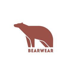 modern logotype with silhouette bear logo with vector image