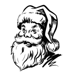 Portrait Santa Claus vector