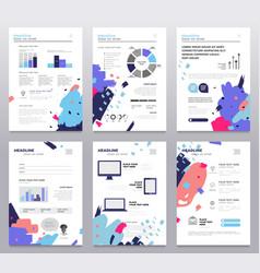 Presentation booklet - set modern vector