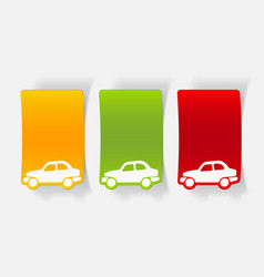 Realistic design element car vector