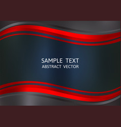 red and black color abstract background with copy vector image