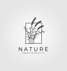 reeds minimalist logo vintage design vector image