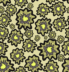 seamless pattern of blob flowers vector image