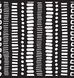 seamless pattern vertical lines dots doodles vector image