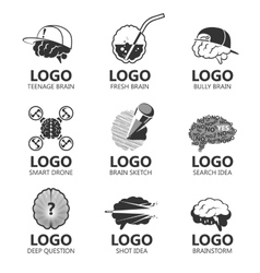 Set of brain sign set vector