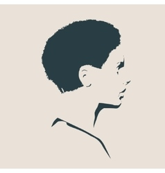 Silhouette of a female head Face profile view vector image