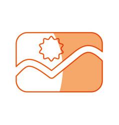 Silhouette picture symbol icon design vector