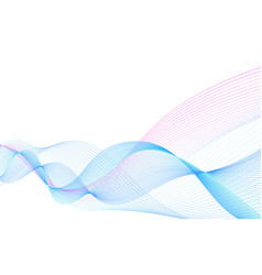 Smooth smoky waves on white background vector