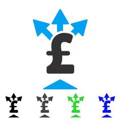 Split pound payment flat icon vector