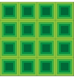 Squares seamless pattern green colors vector