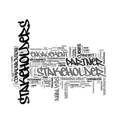 Stakeholders word cloud concept vector