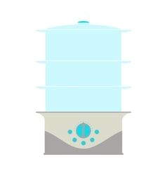 Steamer Icon Card vector