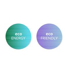sticker eco energy vector image