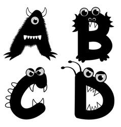 Strange creature font type vector