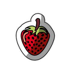 Strawberry fruit icon stock vector