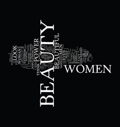 The power of beauty text background word cloud vector