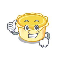 Thumbs up egg tart character cartoon vector