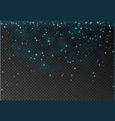 transparent falling star isolated on dark b vector image