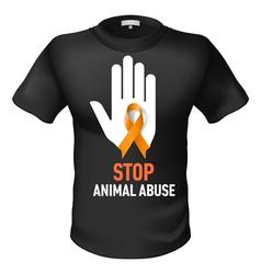 Tshirt animal abuse vector image