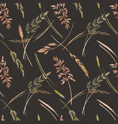 wild field grass pattern vector image