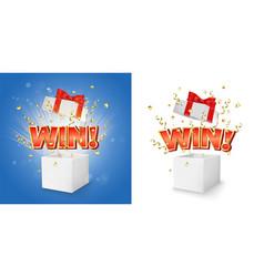 Winner box concept for banner poster vector