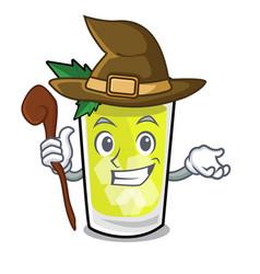 Witch mint julep mascot cartoon vector