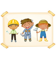 Workers and farmer vector image